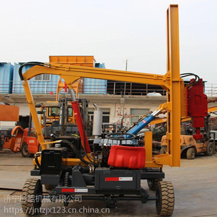 波形护栏打桩机 小型护栏打桩机厂家直销