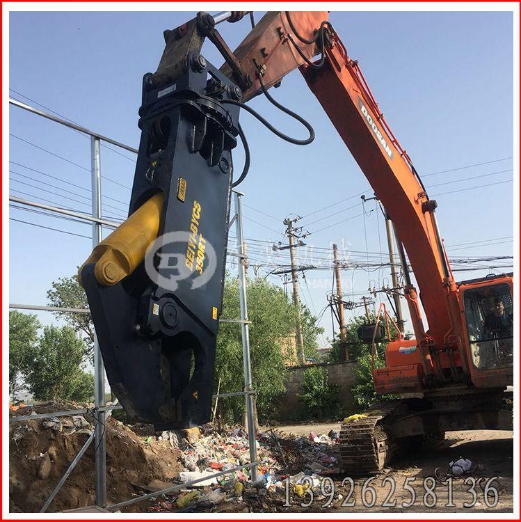 挖掘机液压剪刀 鹰嘴剪拆解废铁罐子回收 液压钳 北奕机械