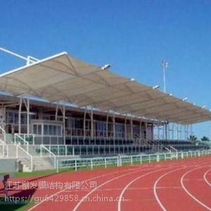 PVDF体育场看台膜结构 高尔夫球场膜结构 机场入口张拉膜景观