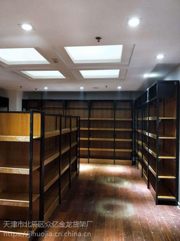 天津超市货架新款钢木货架设计定做母婴店便利店架子生鲜超市蔬菜架