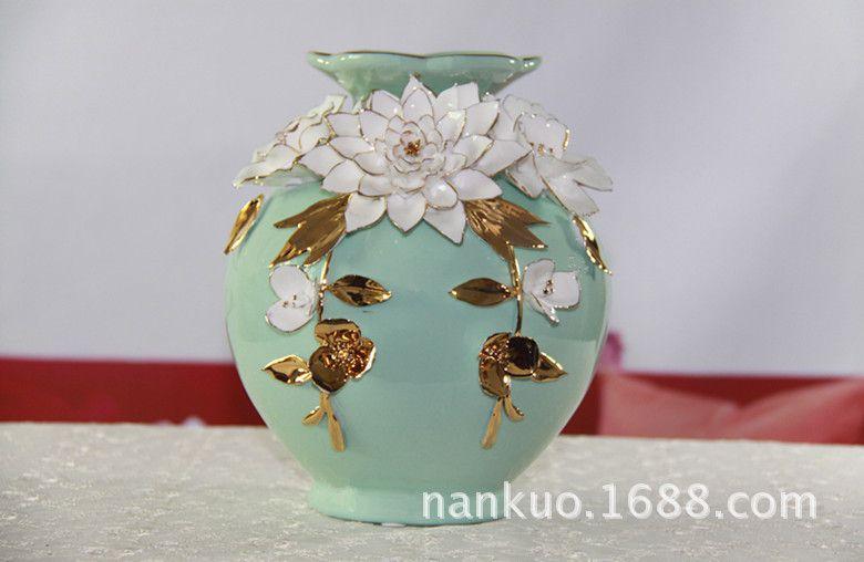 现代简约时尚陶瓷花瓶工艺品家居饰品摆件客厅书房摆设 婚庆礼品图片