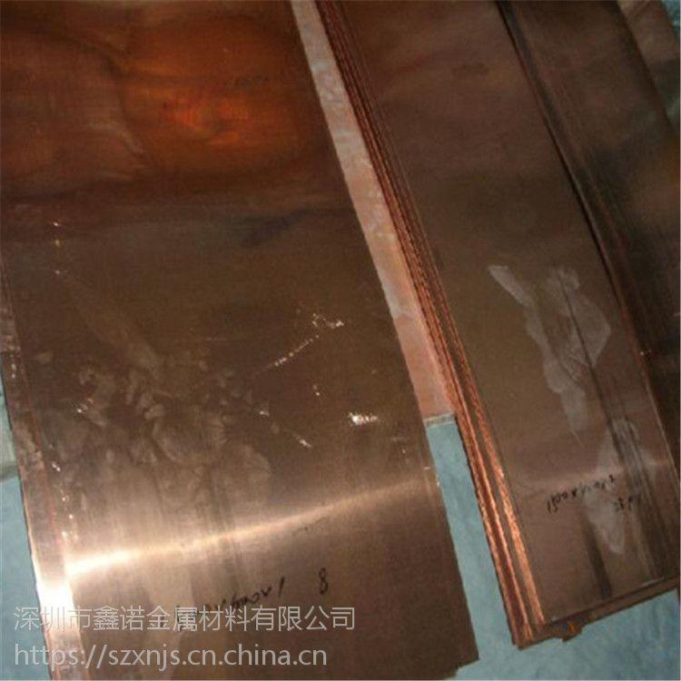 环保冲压C5191 磷青铜板 磷铜板1.0 紫铜板 铍铜板