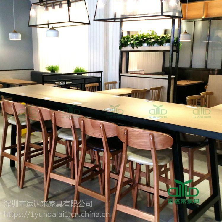 简约现代四人位防火板桌子 西餐厅餐桌 厂家直销板材餐厅餐桌椅组合