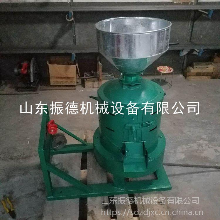 浦东新款粮食碾米机 多功能水稻脱壳碾米机 谷子去皮机商用型 振德机械