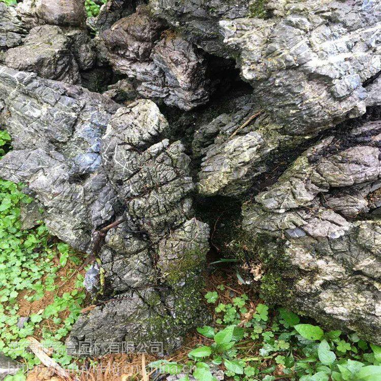 北京园林假山石 灰色英石 大英石叠石峰石纹路多 英石之乡 铭富园林供应假山石