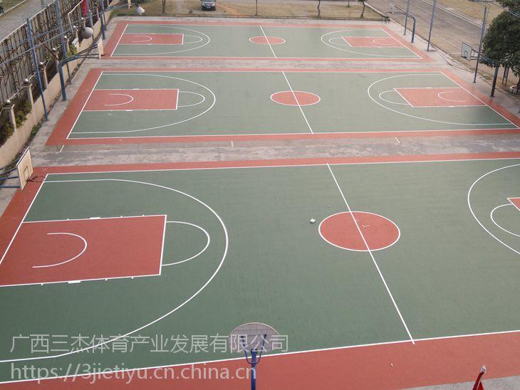 硅pu球场和木地板球场的对比【广西三杰体育】硅PU场地施工专家