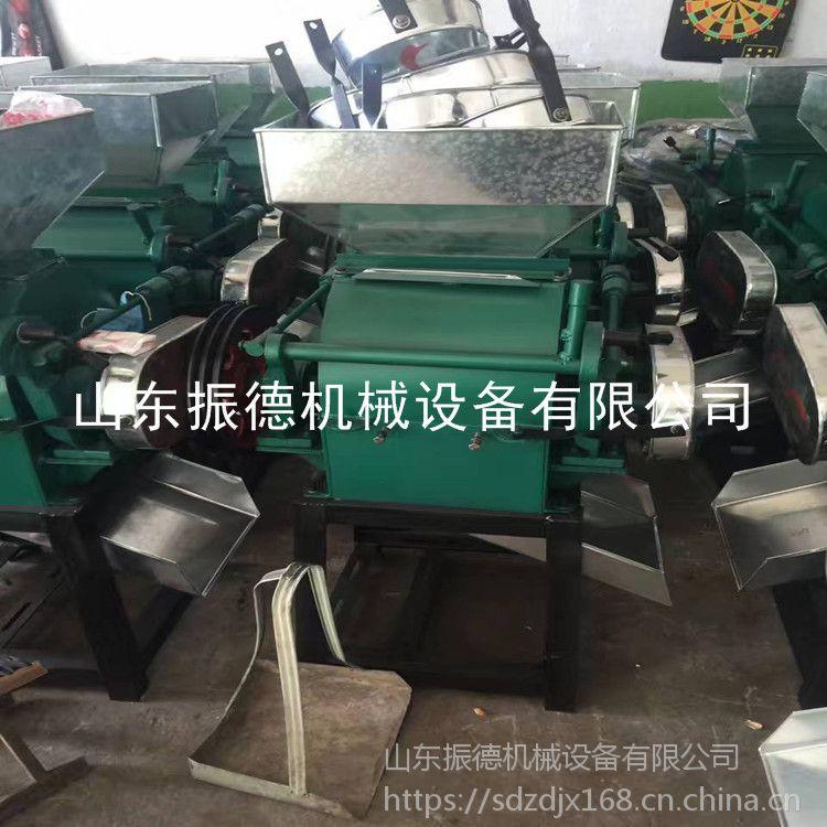 振德机械 熟花生米破碎机 粮食挤扁机 图片 花生破碎机