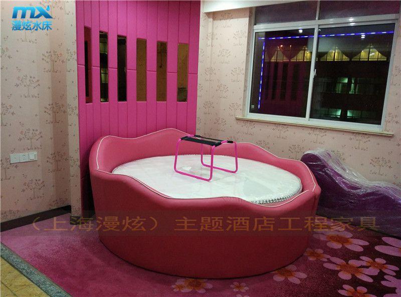 [上海漫炫]莲花型皮艺圆床-情趣设施水床-情侣情趣宾馆-家具水床图解房里面的酒店情趣图片