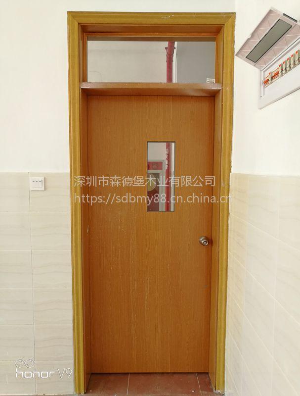 中小学校环保教室门订制学校工程整套门实木复合隔音房间门手动教室门