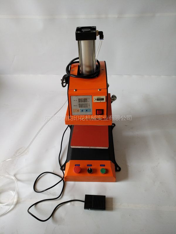 气动单工位服装烫标机 气动单工位服装印码机 气压烫唛机20*20