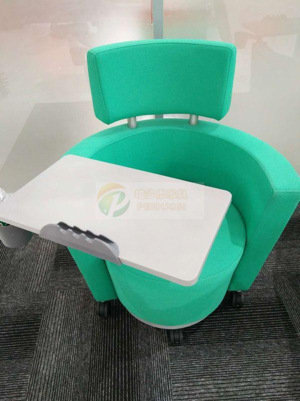 高档带写字板会议椅布艺培训椅沙发椅会议记录椅子出口椅