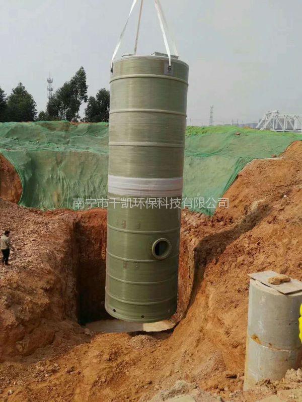 一体化预制泵站,广西泵站厂家现货供应一体化预制泵站设备就选千凯