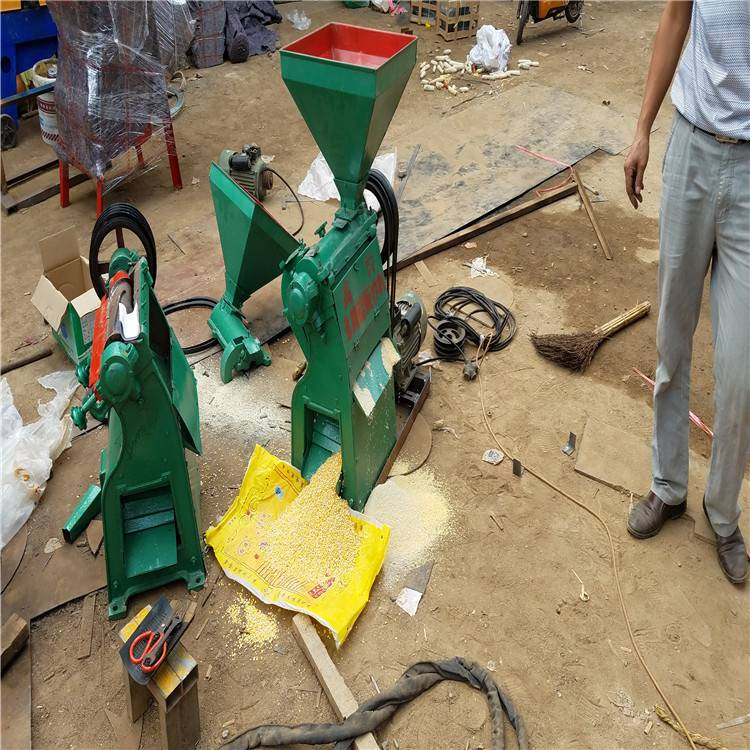 黑豆碾米制糁机 润众 小型糯米制糁机