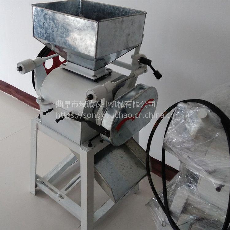 花生米压胚破瓣机 中小型饲料破瓣机 小明麦豆挤扁机