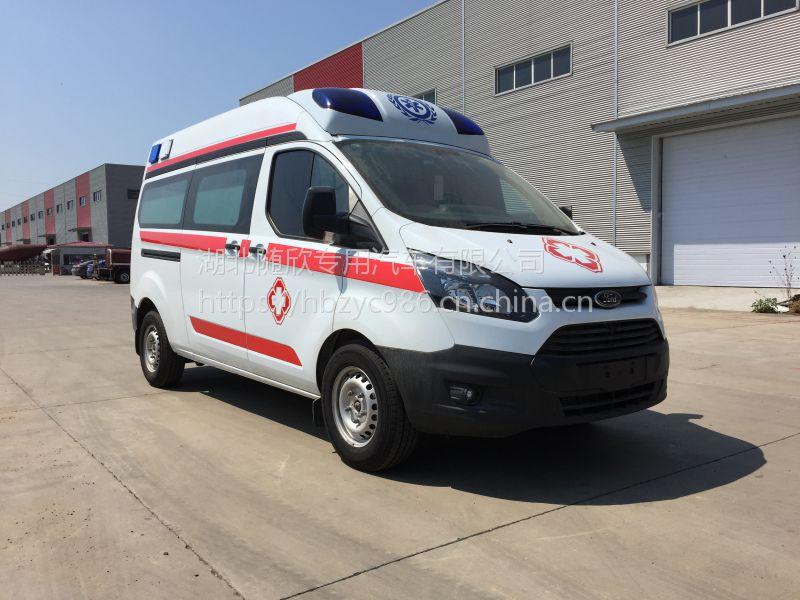 石家庄救护车厂家国五江铃福特新全顺V362救护车转运型监护型价格