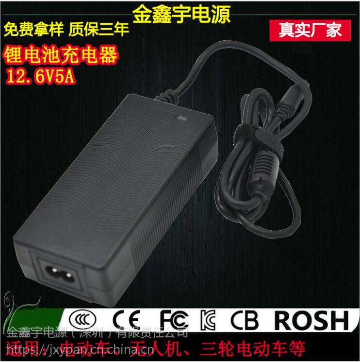 XVE 12.6V5A电动车充电器生产厂商 锂电池充电器免费拿样终身维护