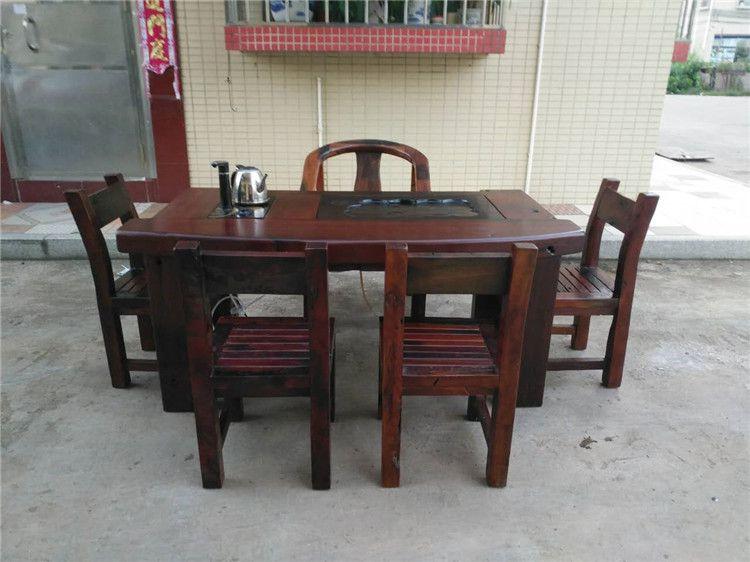 供应老船木茶桌椅 船木博古架 船木酒吧台 船木功夫茶桌椅 实木餐桌椅厂家直销