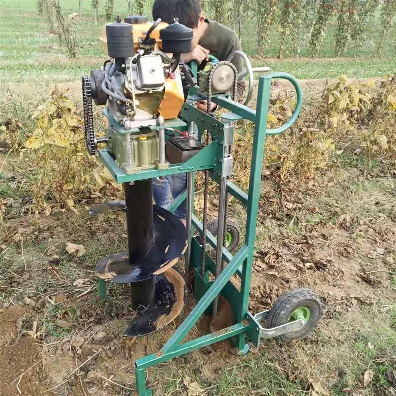 铁路护栏钻眼机 启航道路标识牌埋桩打眼机 栽果树苗用的挖坑机