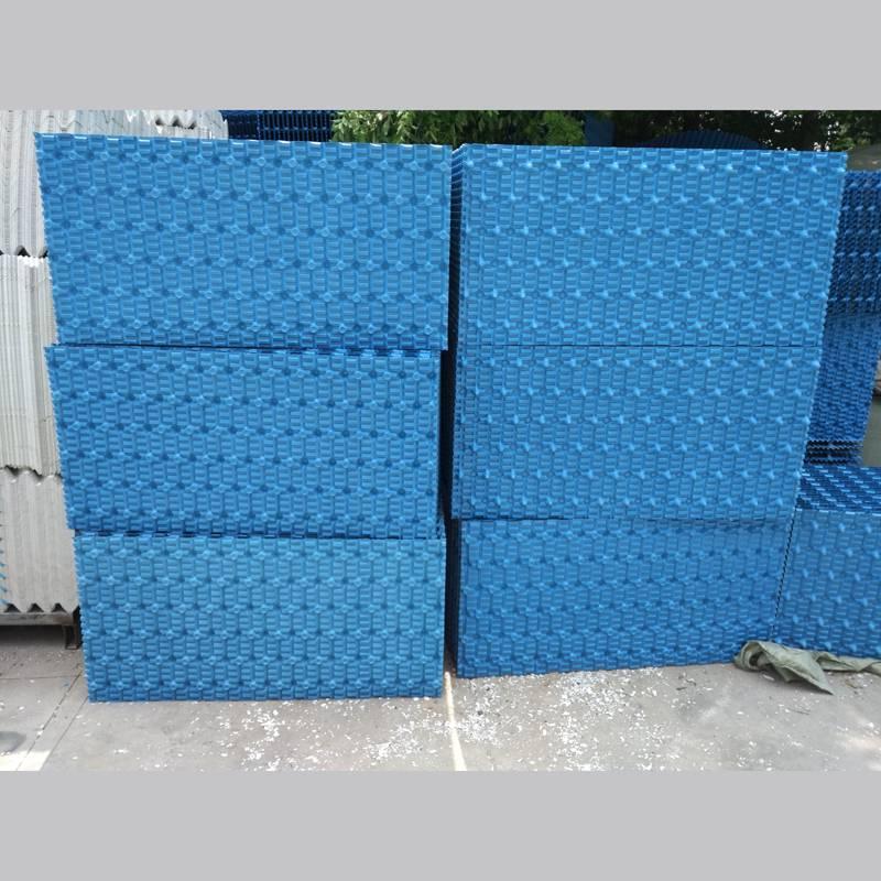 【电厂填料】唐山冷轧厂净循环水处理冷却塔过滤用的PVC淋水填料【河北华强】