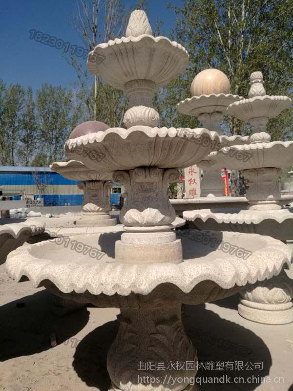 大型石雕喷泉图片大全_大连石雕喷泉供应厂家_永权雕塑