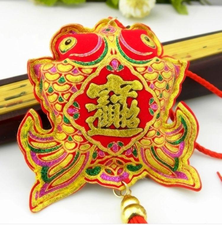 端午香包 中国结绒布烫金 香包香囊香袋挂饰批发图片