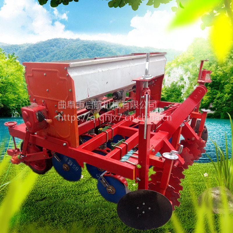 手推单行娃娃菜精播机 白菜专用播种机 启航拖拉机用小麦播种机价格