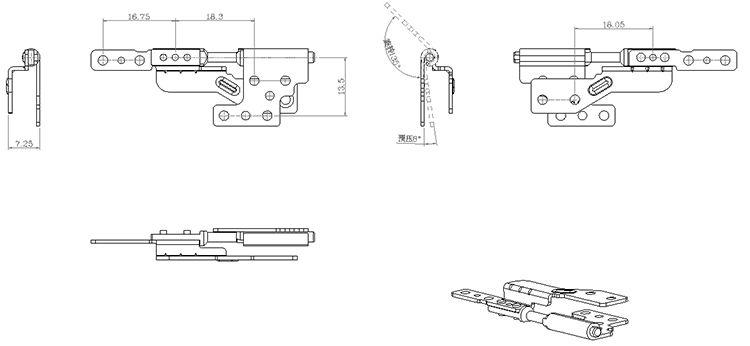 旋转笔记本阻尼器 TS-006-1北京阻尼器笔记本