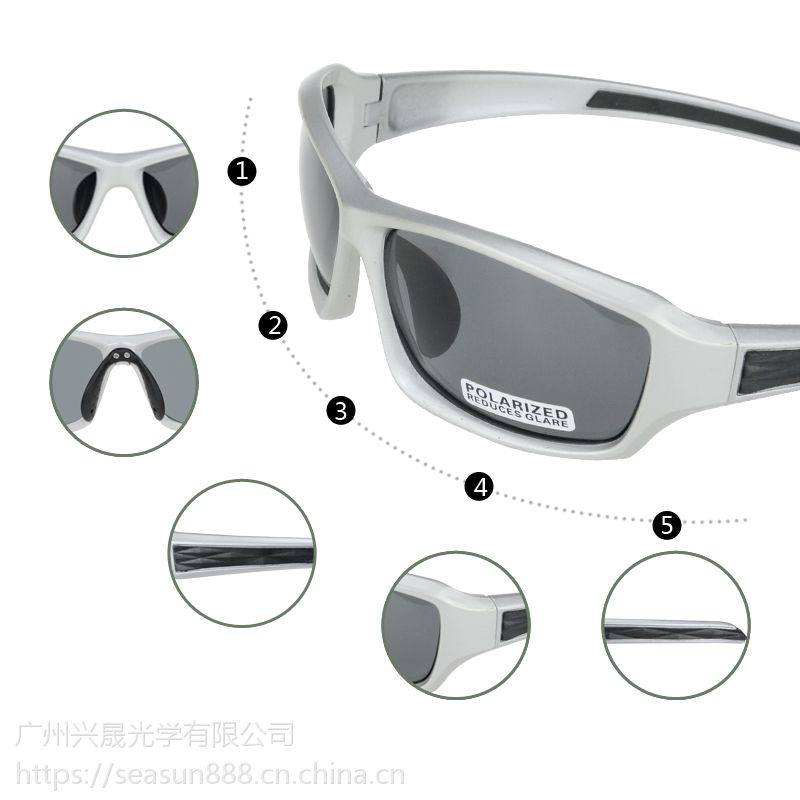 外贸新品 运动太阳镜 防紫外线钓鱼偏光眼镜 休闲高尔夫眼镜