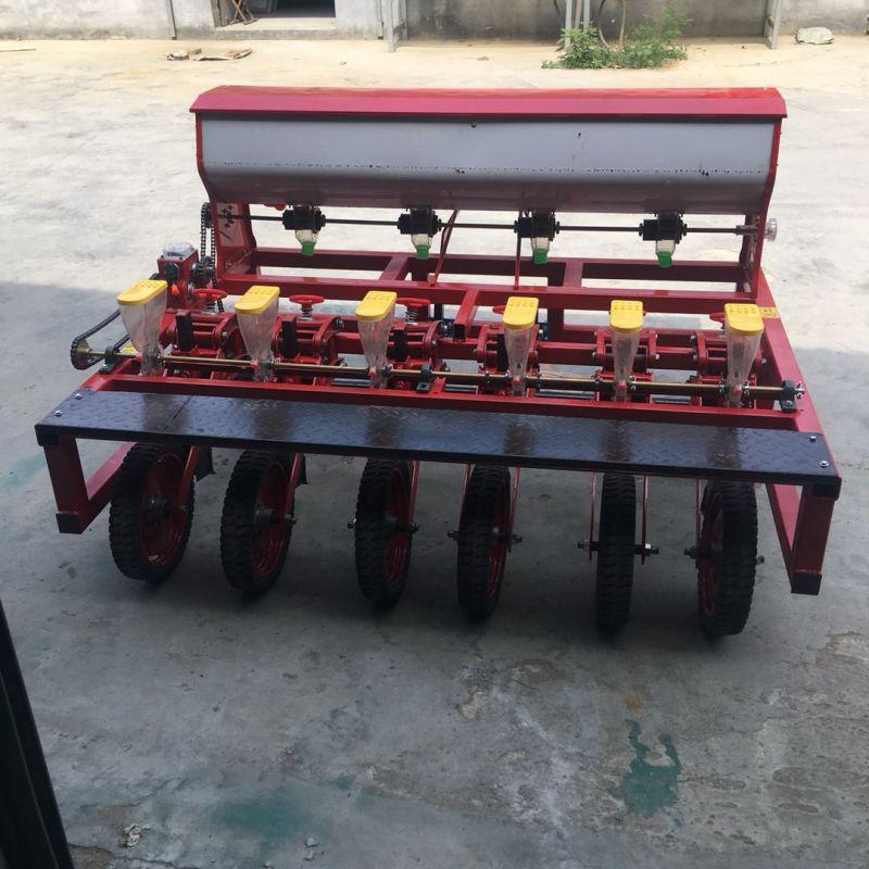河北邢台手推式人力蔬菜播种机 谷子蔬菜精播机