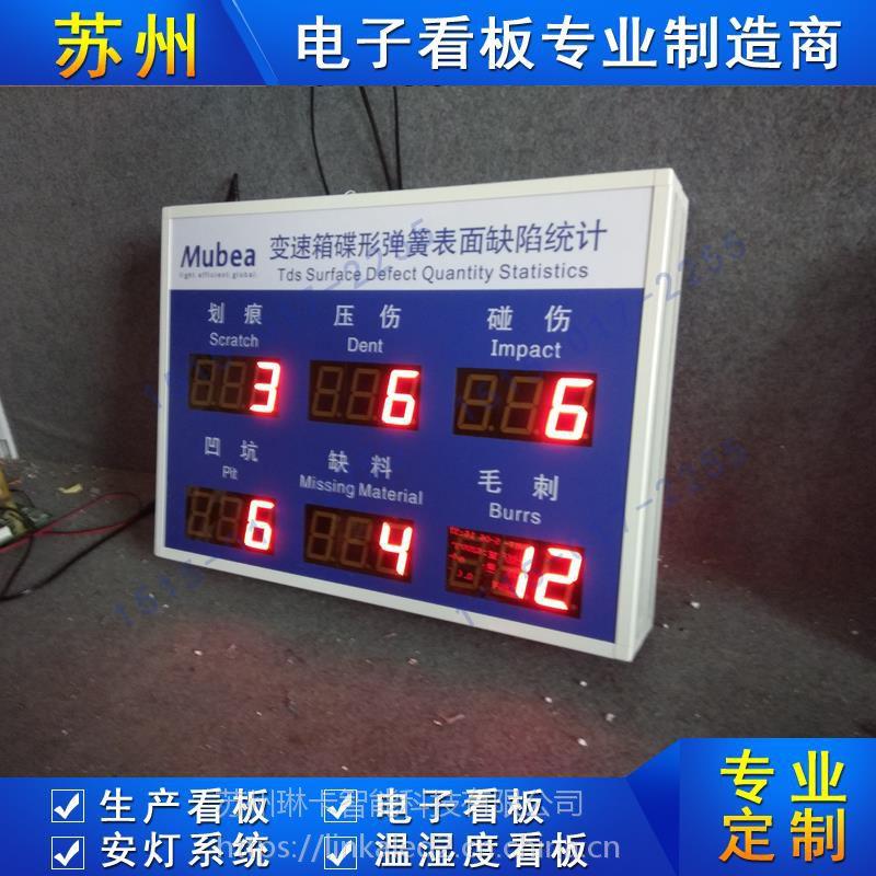 电子看板SMT车间工序时间质量控制生产看板系统壁挂式LED显示屏