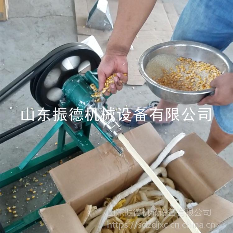 七用40型玉米棍膨化机 花生形膨化机 空心棒机 振德牌