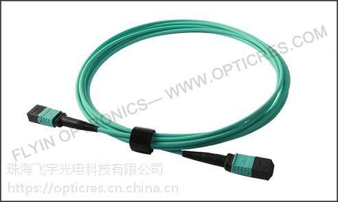 3M 12芯多模 50/125 MPO主干光纤跳线 40G高密度网络数据中心专用
