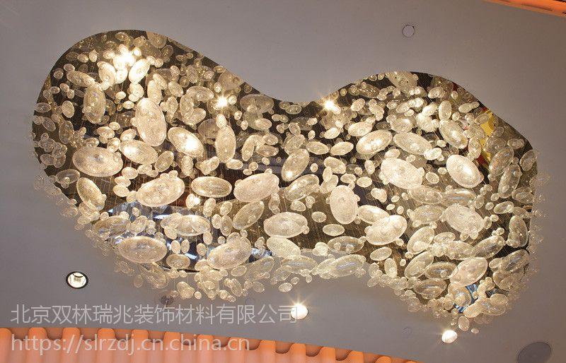 酒店大堂定制设计高端材质玻璃手工吹制LED灯