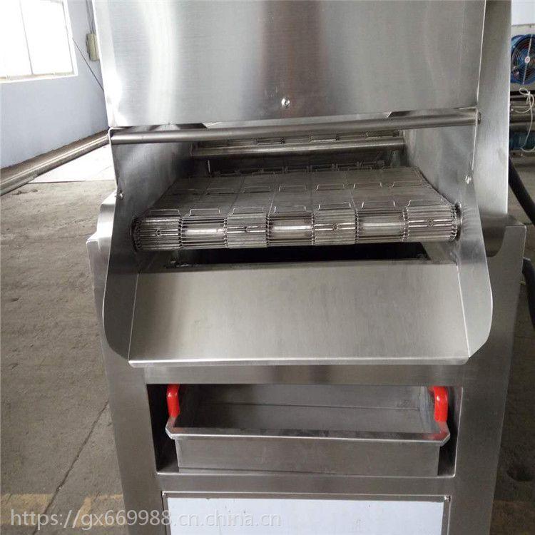 供应豆腐带全自动油炸流水线、新品直销冰激凌上浆上粉油炸设备