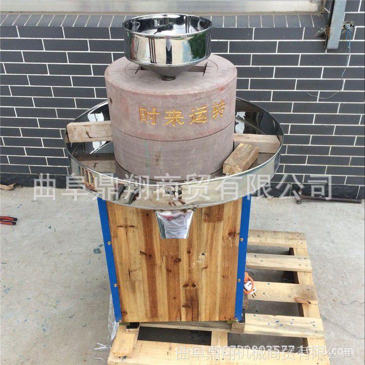 湖南40型半自动豆腐石磨机 高硬度肠粉专用石磨机 大米米浆石磨机