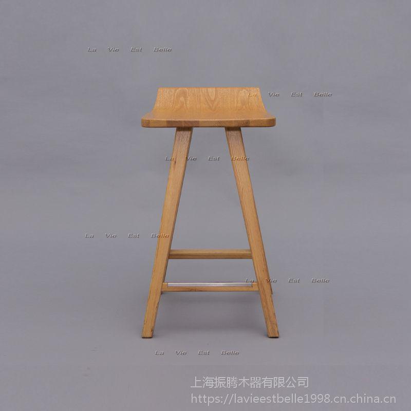 星巴克实木吧椅星巴克吧台椅定做生产厂家