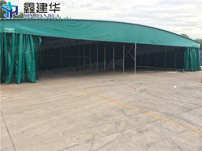 黄浦区移动室外大型工厂雨篷供应厂家_布活动伸缩推拉帐篷