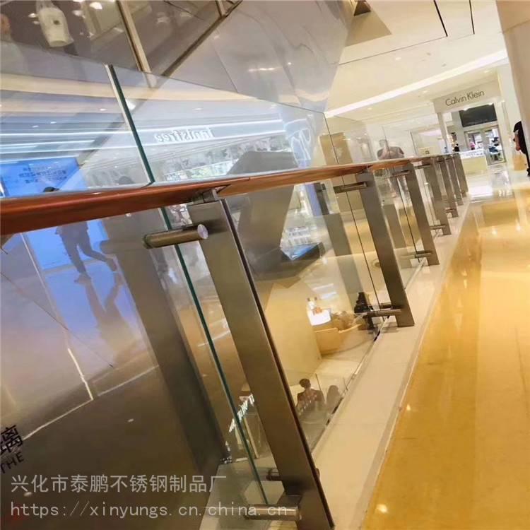 苏州新云 厂家直销 不锈钢楼梯扶手 304别墅楼梯栏杆 不锈钢玻璃护栏 定制