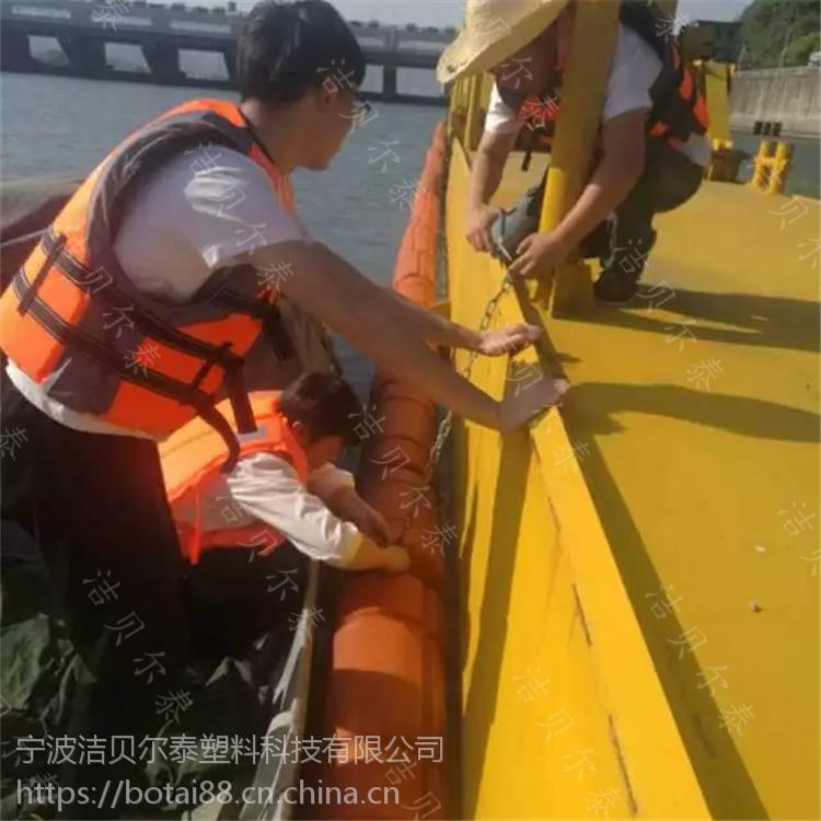 水库大坝上游垃圾拦截装置聚乙烯拦污漂批发