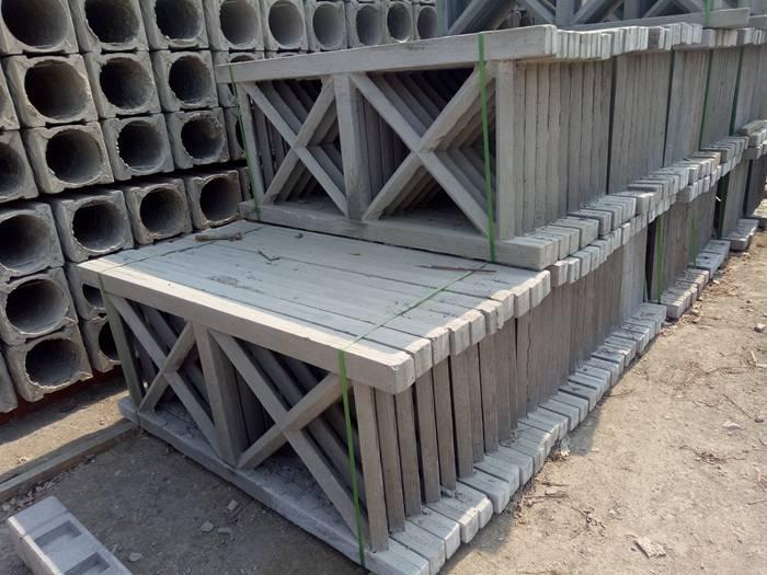 1.5米二根横梁水泥仿树桩栏杆