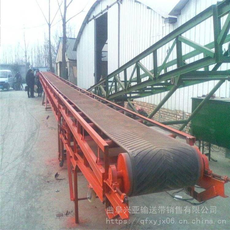 食品厂铝合金输送机 兴亚电动滚筒爬坡皮带输送机