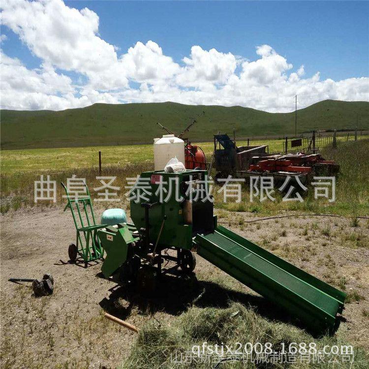 全自动牧草打包机 生产加工牵引式自动包膜机