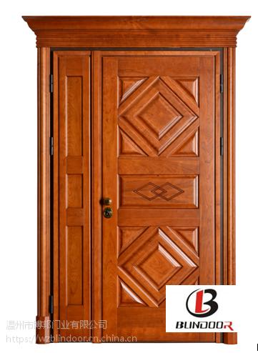 温州博邦门业意式风格 优质手工木门 家具防盗木门
