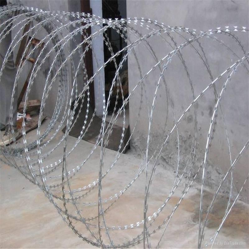 柳州刀片刺绳 螺旋刀片刺绳 铁丝网刺绳