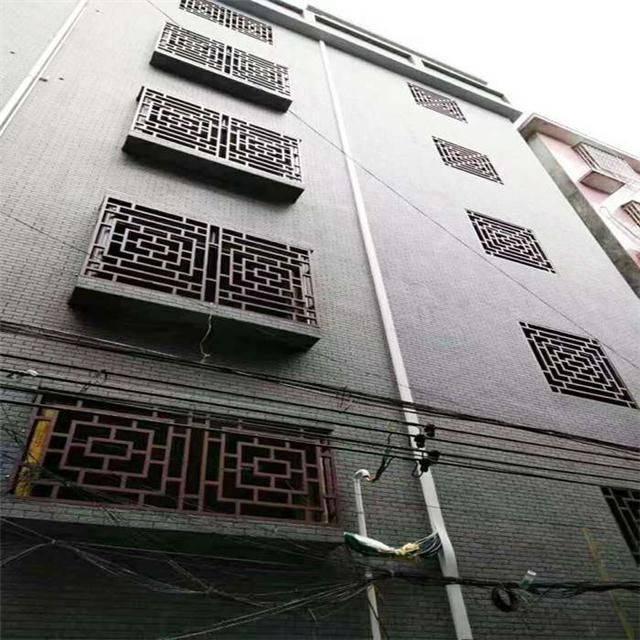 山东铝合金窗花厂家专业定制仿古木纹铝窗花 门窗