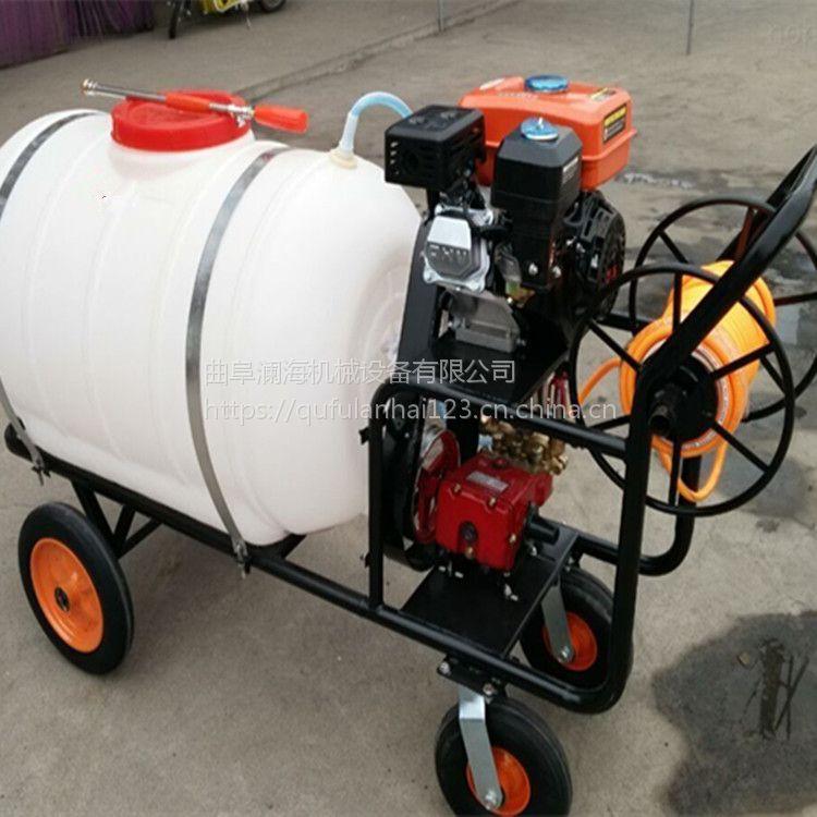 果园拉管式汽油喷雾器 300升药桶 消毒 杀虫