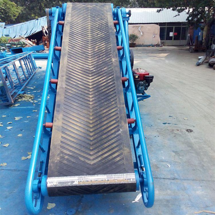 丹东升降式皮带输送机 兴亚沙场装卸货用带式输送机
