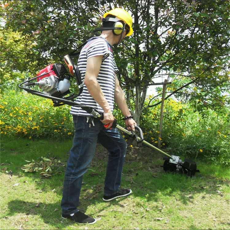 汽油手推式割草机 刀片式割草机 小型背负式锄草机