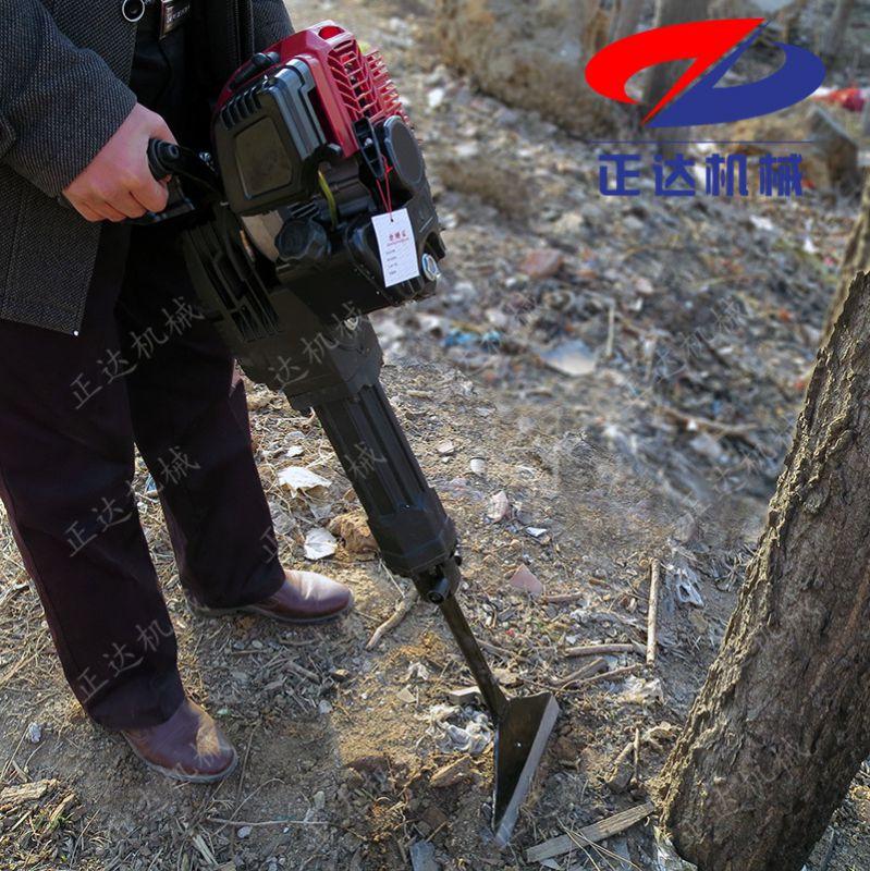 牡丹江合金链条挖树机 多功能手提挖树机
