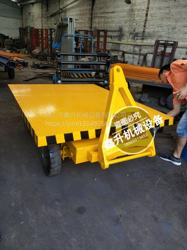 牵引平板拖车 全挂平板车 鑫升厂家 牵引搬运 全挂车